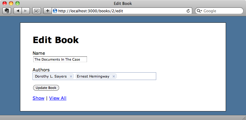 The autocomplete textfield using the Facebook theme.
